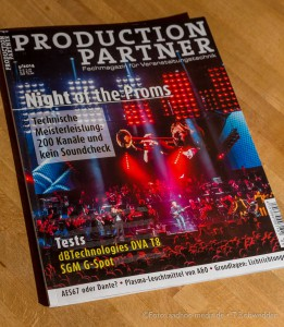 Production Partner 5/2014 - Titelstory: Night of the Proms - Foto+Text Thomas Rohwedder