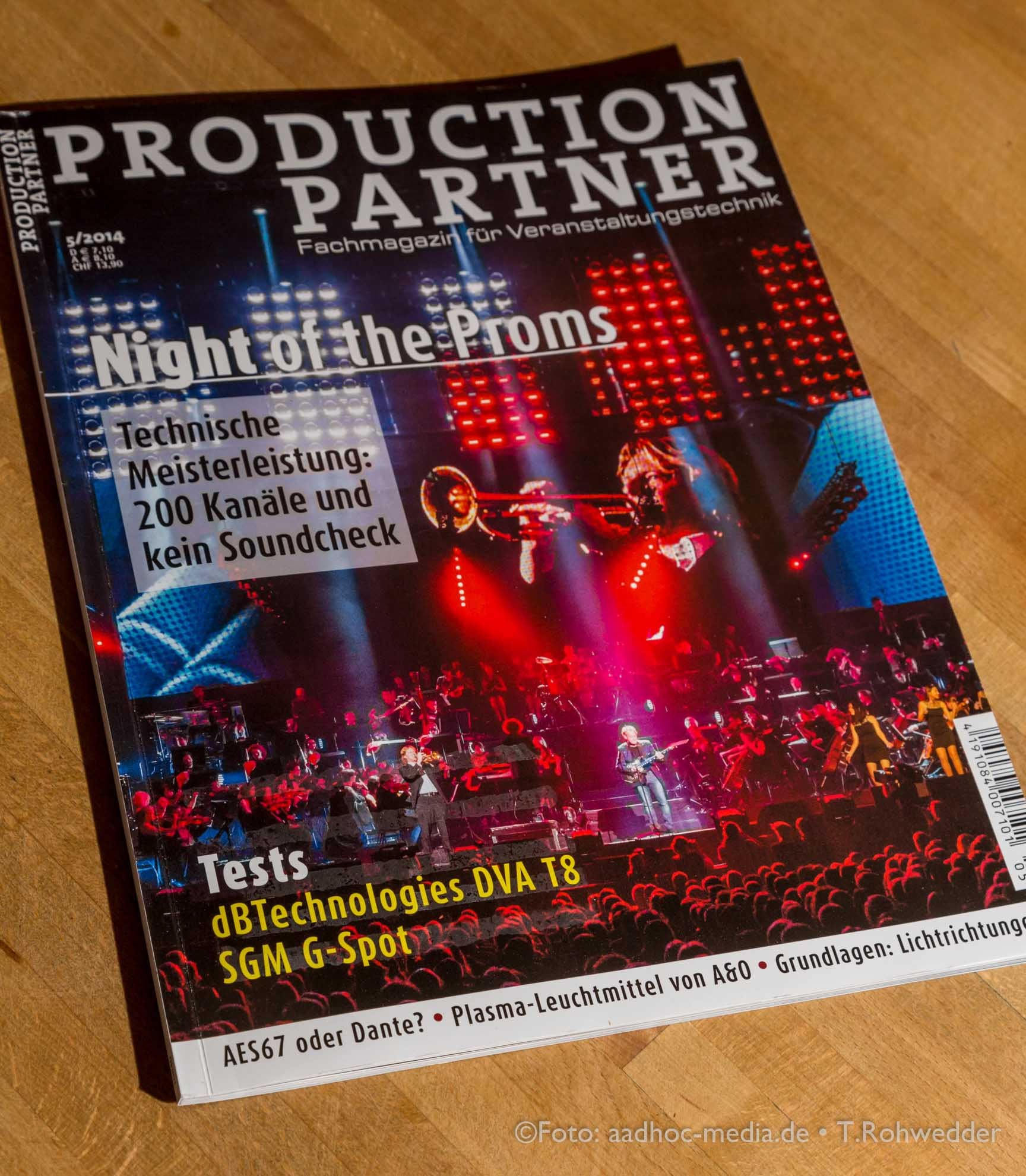Production Partner 5/2014 - Titelstory: Night of the Proms - Foto+Text: Thomas Rohwedder