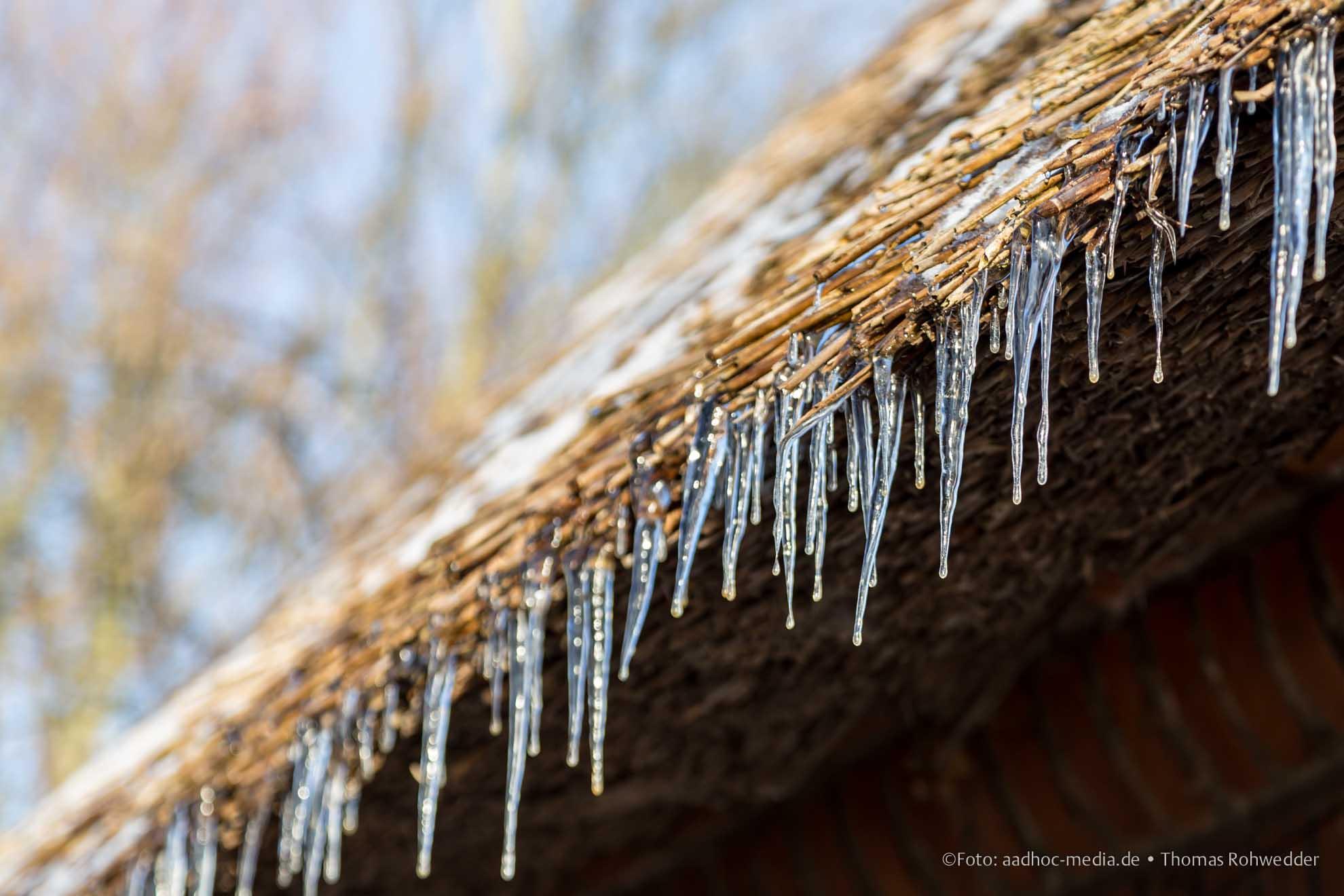 Eckernförde mit strahlender Sonne im Winter mit bleuem Himmel. Foto ©: aadhoc-media.de • Thomas Rohwedder
