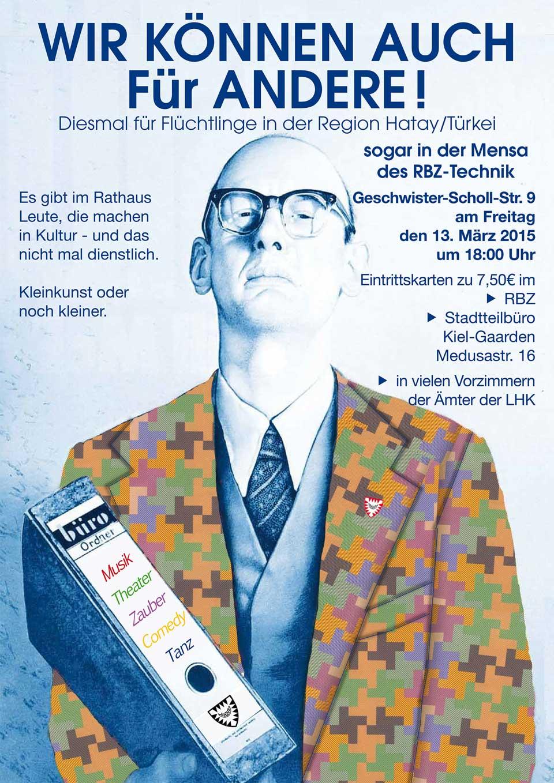 Benefizkonzert im RBZ Kiel mit 5 aus 4, Peter Todeskino, Hans-Werner Tovar und vielen weiteren Künstlern der Stadt Kiel
