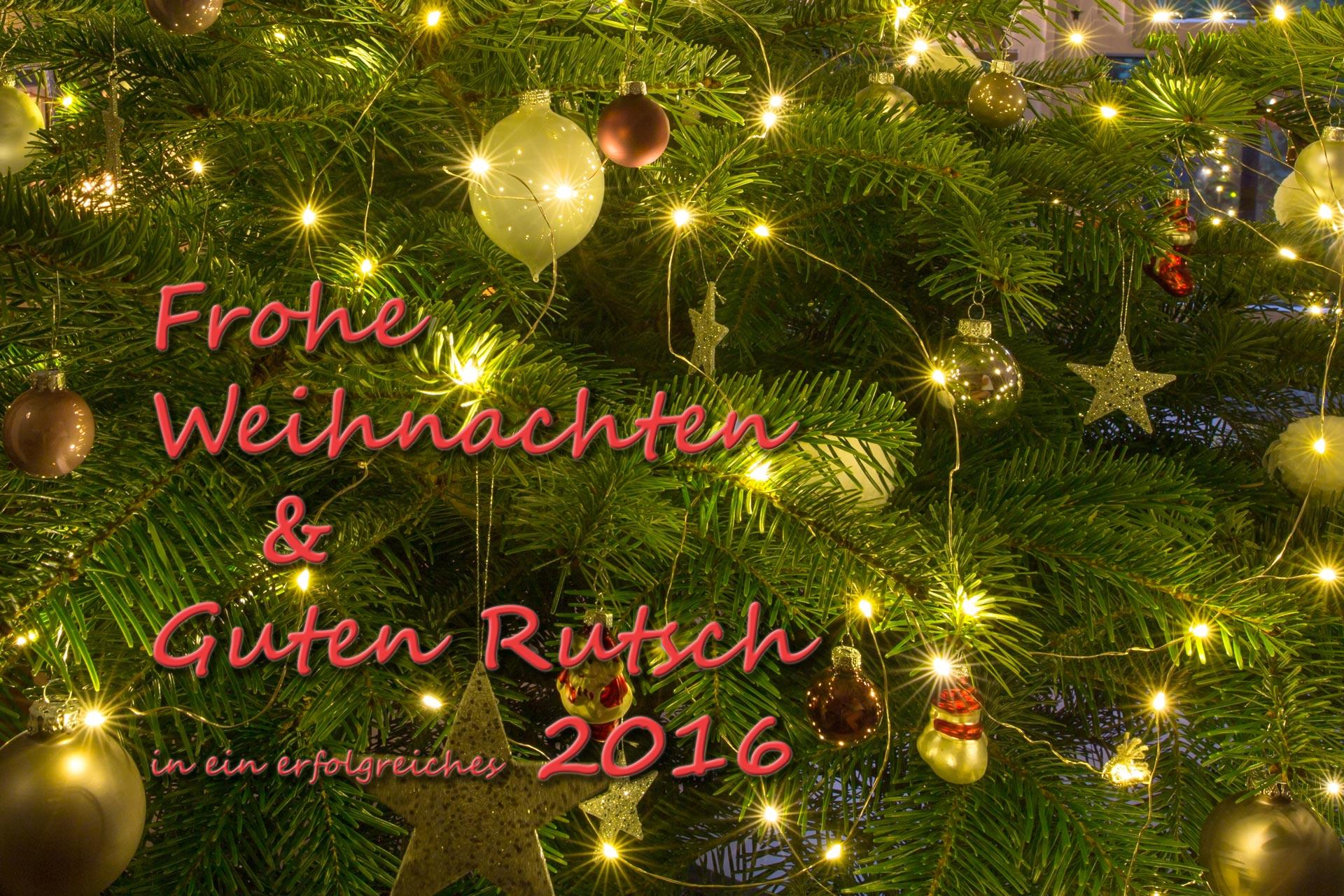 Wir wünschen allen Kunden + Freunden + Bekannten ein besinnliches Weihnachtsfest und ein paar erholsame Tage. Rutscht gut rein in ein erfolgreiches Jahr 2016! Wir freuen uns auf viele gemeinsame Projekte!