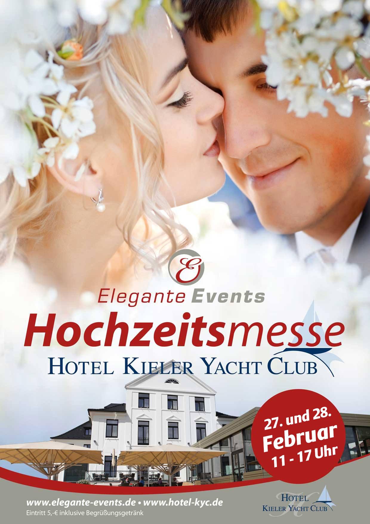 Die Kieler Hochzeitsmesse im besonderen Ambiente des Kieler Yacht – Club findet am 27. und 28. Februar 2016 statt.