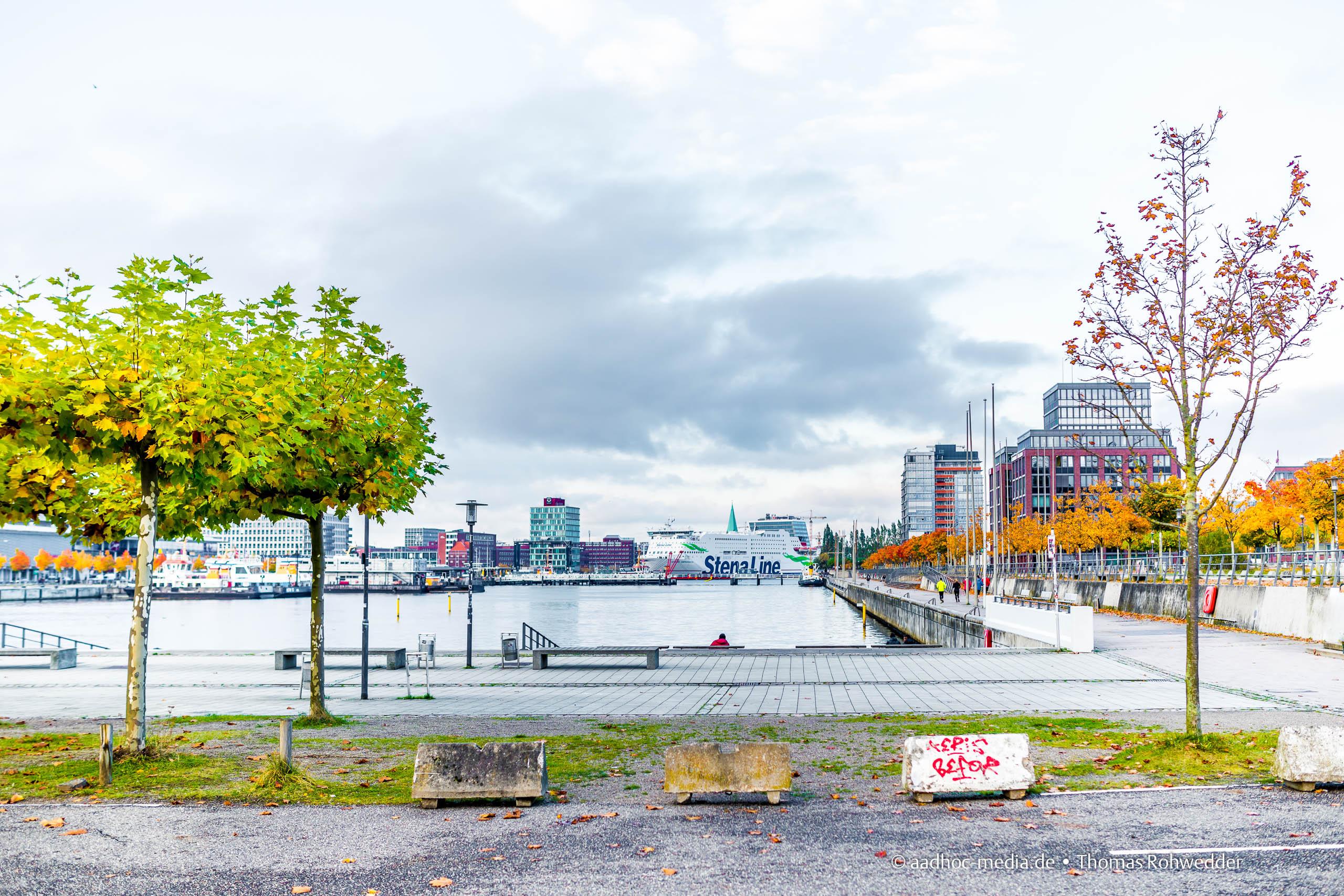 Kiel - Grau in Grau bei herstlichen Bäumen • ©Foto: aadhoc-media.de • Thomas Rohwedder