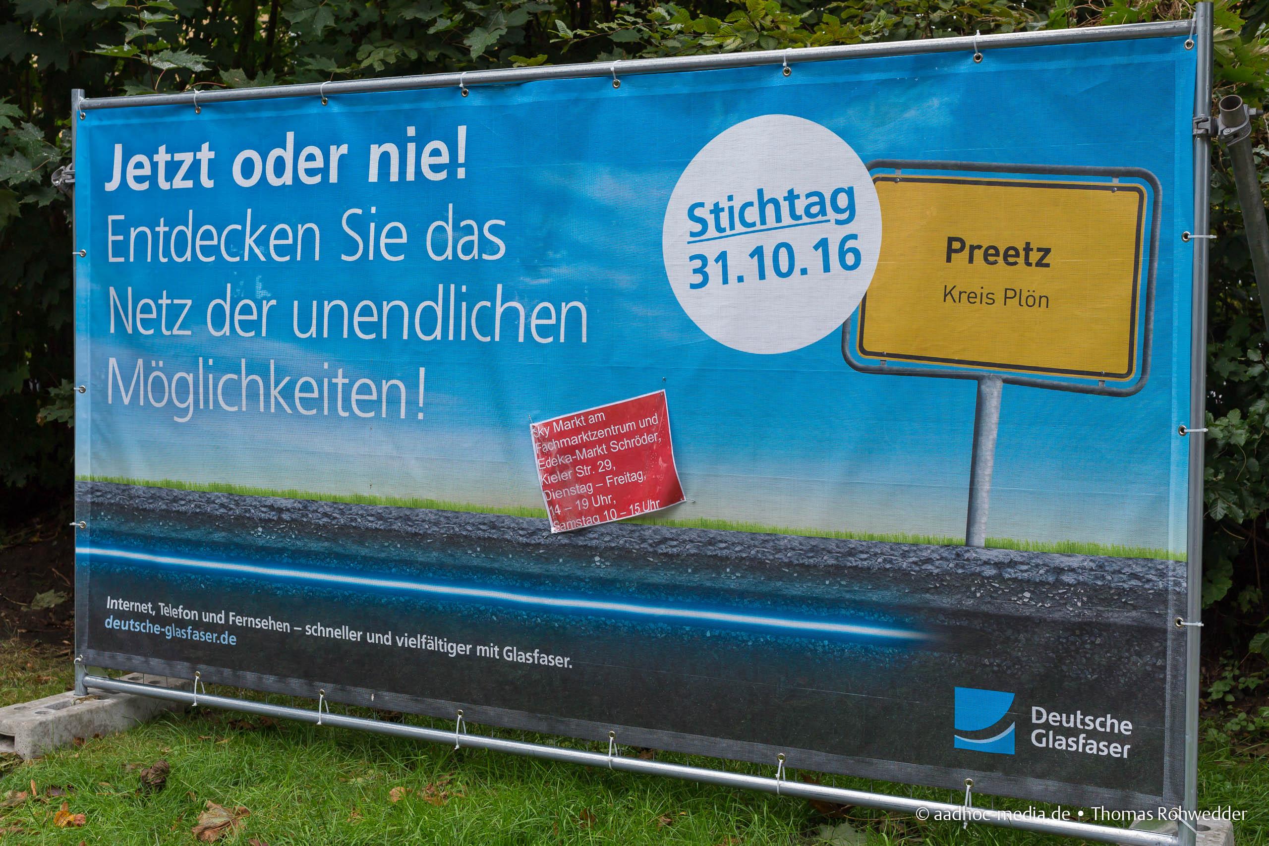 Zukunft Preetz - Glasfasernetz für Preetz • ©Foto: aadhoc-media • Thomas Rohwedder
