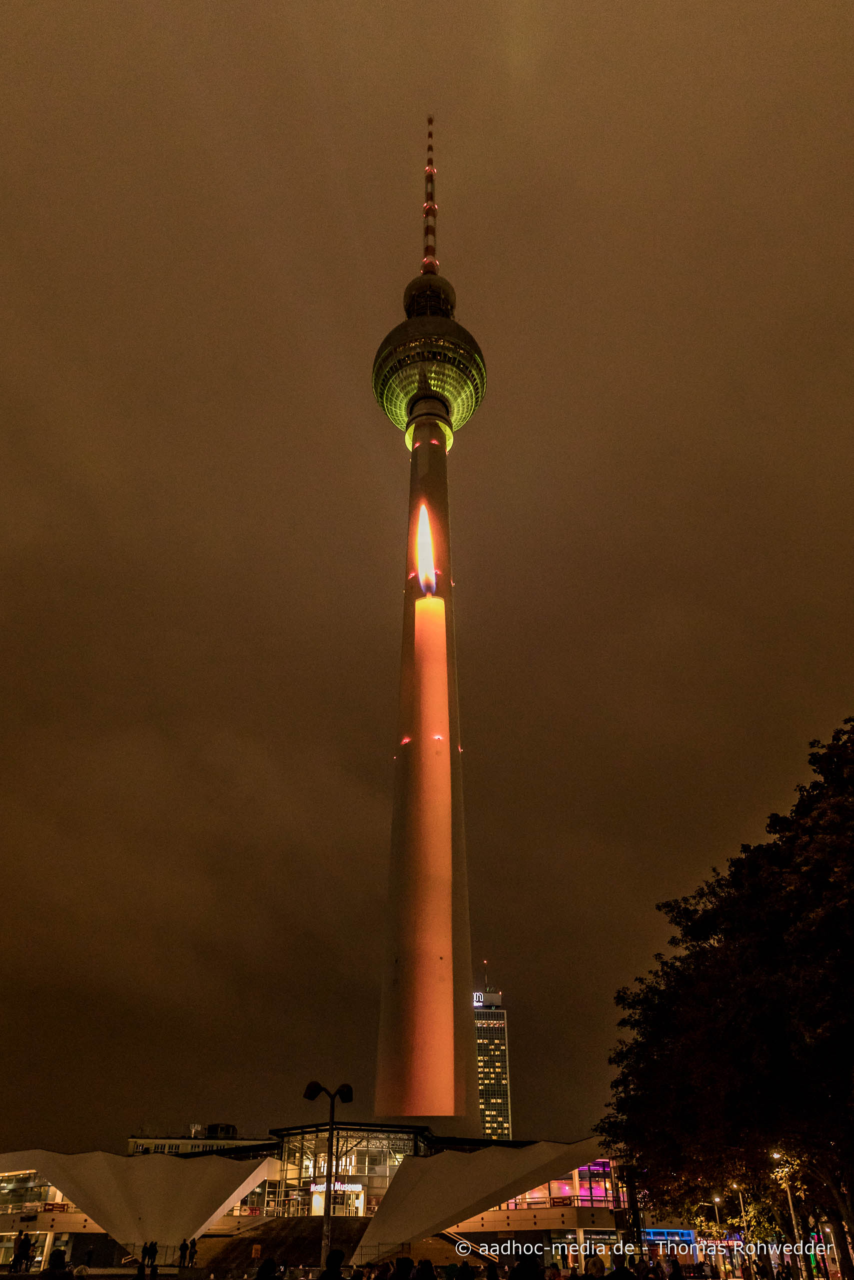 Fernsehturm am Alexanderplatz zum Festival of Lights in Berlin • Bild aus dem Canon 5D Mark IV Test • ©Foto aadhoc-media.de • Thomas Rohwedder