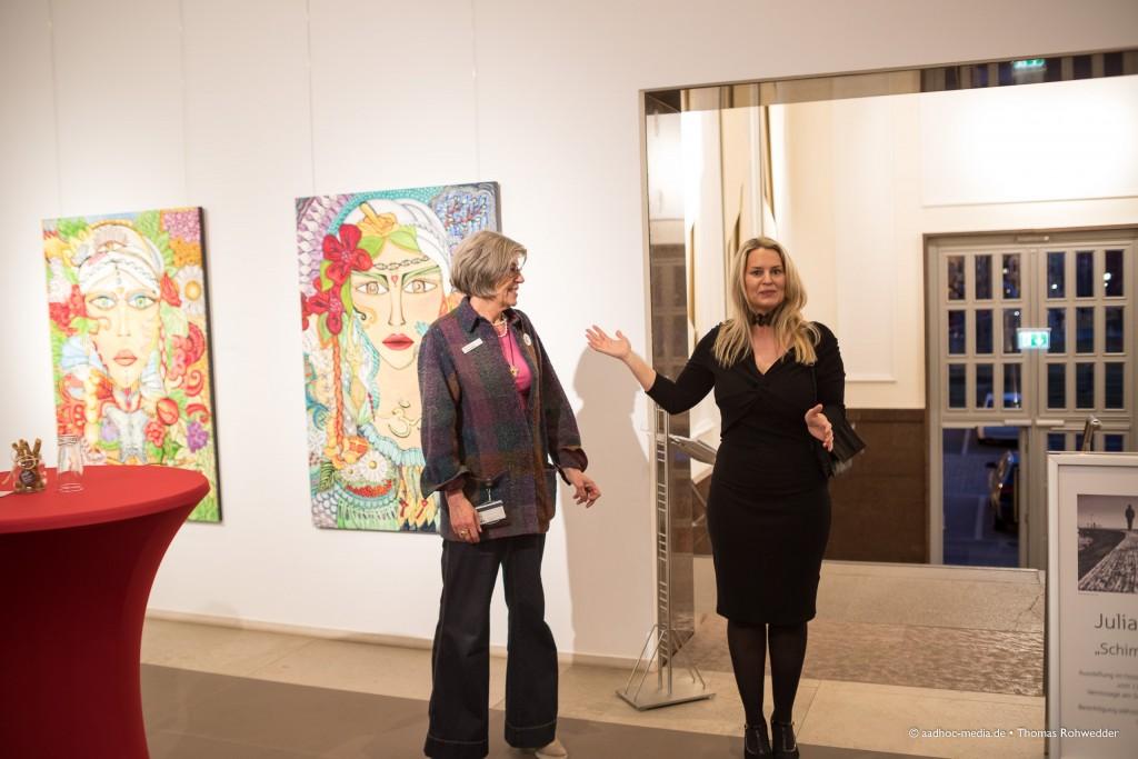 "Ausstellungseröffnung am 16.03.2017 ""Schimmer & Couleur"" - Juli Bo • ©Photo: aadhoc-media.de • Thomas Rohwedder"