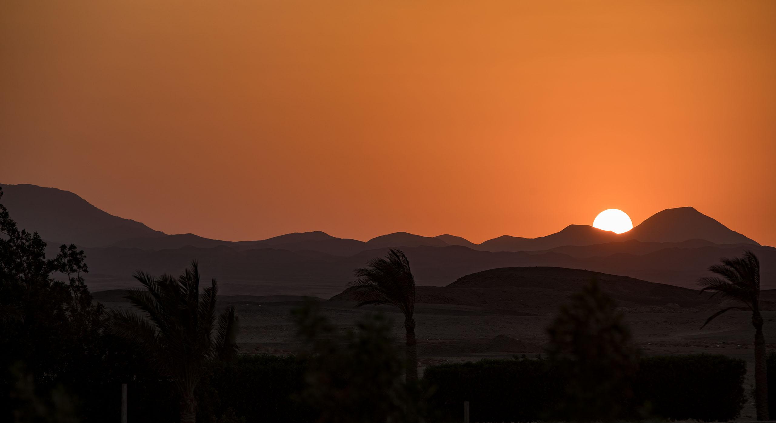 Sonnenuntergang - Egypt, Ägyptenreise nach Marsa Alam 2018. © aadhoc-media • Thomas Rohwedder