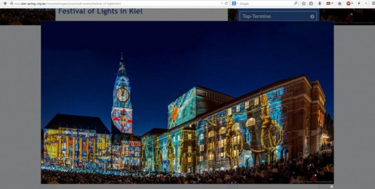 Festival of Lights in Kiel – Poster – Kiel.Sailing City Adventskalender