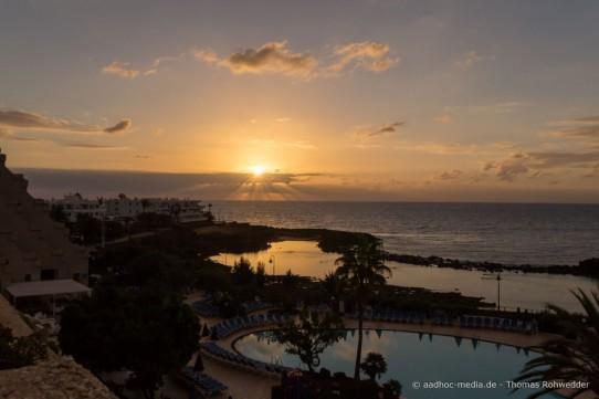 Unpünktlich in Costa Teguise – Lanzarote zur Fototour 2015 gelandet – aber doch rechtzeitig angekommen.