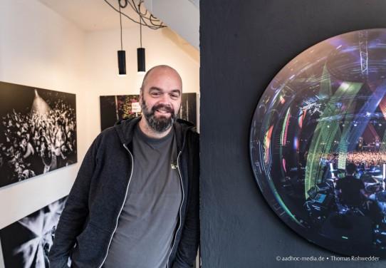 """Besuch bei Christian """"Rocketchris"""" Glatthor zur Ausstellung """"KonzertLandschaft"""" im Statt-Maler in Essen"""